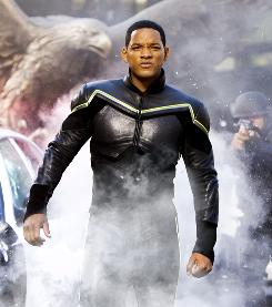 Will Smith is not your ordinary superhero in Hancock.