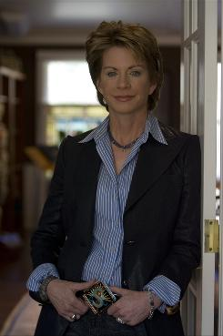 "The ""S"" on Patricia Cornwell's belt buckle stands for Scarpetta, the last name of Cornwell's forensic pathologist and the title of the 16th novel in the series, out Tuesday."