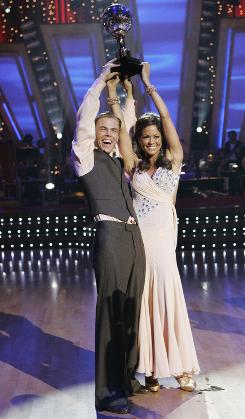 Brooke Burke and Derek Hough triumphed on ABC's Dancing With the Stars, which was also a ratings triumph for the network.