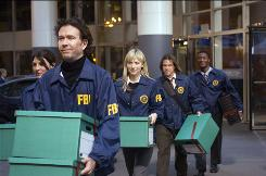 Timothy Hutton's Leverage character recruits a team of wily deceivers  Gina Bellman, left, Beth Riesgraf, Christian Kane and Aldis Hodge  to even the score and help the victimized.