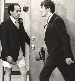 Paul Benedict, right, was best known for playing George Jefferson's British neighbor, Harry Bentley.