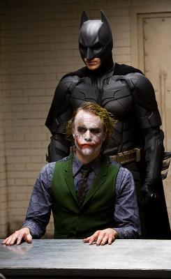 Batman (Christian Bale) and The Joker (the late Heath Ledger) in The Dark Knight, which will be released on DVD on Tuesday.