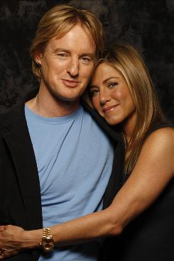 "Owen Wilson and Jennifer Aniston, who co-star in Marley & Me, which opens Christmas Day, had ""an instant ease"" with each other when they met and started working on the film, Aniston says."