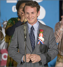 Sean Penn stars as doomed politician Harvey Milk in the critically acclaimed film Milk.