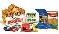 The Hollywood Musicals Collection from 20th Century Fox/MGM includes 61 discs housed in a replica of a vintage marquee, as well as 50 postcard-size reproductions of the movie posters.