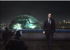 Klaatu's (Keanu Reeves) arrival on Earth in a giant sphere triggers a global upheaval in the remake of the 1951 sci-fi film.