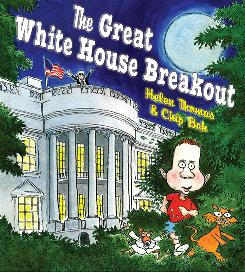 "Veteran White House reporter Helen Thomas and cartoonist Chip Bok have fun with a mischief-making ""first son"" named Sam."