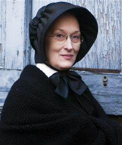 Layered in authority: In Doubt, opening Friday, the habit Meryl Streep wears as Sister Aloysius is based on those worn by the Sisters of Charity.
