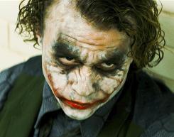 Villain: Heath Ledger in his highly praised turn as the Joker.