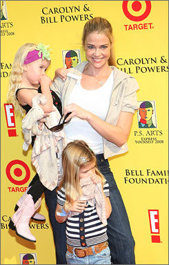 Denise Richards and her daughters at an event in Santa Monica, Calif. on Nov. 16. The girls were unhurt in an auto accident on Friday.
