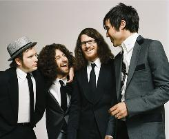 Synergistic dysfunction: That's the meaning of the title of the new album by Fall Out Boy (Patrick Stump, left, Joe Trohman, Andy Hurley and Pete Wentz).