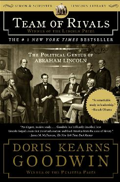 Team of Rivals by Doris Kearns Goodwin details how Abraham Lincoln's cabinet, whose members held diverse and often deeply conflicting opinions, worked together to help save America during the Civil War.