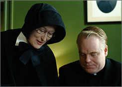 The 1960s Catholic drama Doubt earned four individual acting nominations from the Screen Actors Guild, as well as one for best movie cast. Meryl Streep is up for lead actress, and Philip Seymour Hoffman, Amy Adams and Viola Davis received supporting bids.