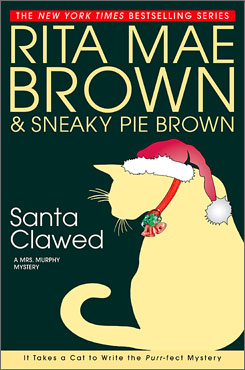 Cat crimes: Brown's felines go to work on a murder mystery in Santa Clawed.