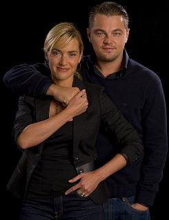 Kate Winslet and Leonardo DiCaprio reunite for a film for the first time since the blockbuster Titanic. Their performance in Revolutionary Road, up for a Golden Globe, has been called &quot;blistering&quot; by critics.
