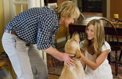 Owen Wilson and Jennifer Aniston play the human companions, but Marley is the star of this show.