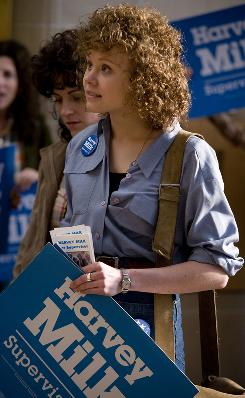 Alison Pill  portraysn Anne Kronenberg, Harvey Milk's campaign manager, in the biopic Milk.