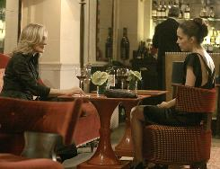 It's complicated: Patty Hewes (Glenn Close), left, is unaware that protegee Ellen Parsons (Rose Byrne) is out to get her.