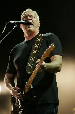 Pink Floyd frontman David Gilmour performs at the Gdansk shipyard in Poland in 2006.