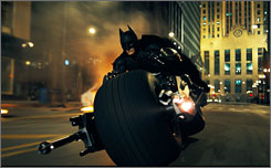 Christian Bale stars as Batman in The Dark Knight.