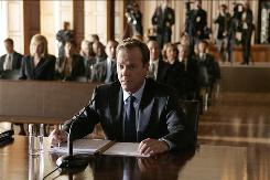 Former CTU agent Jack Bauer (Kiefer Sutherland) finds himself in the hot seat when 24 returns. Season 7 of Fox's hit series premieres with a special two-night, four-hour event Sunday and Monday.