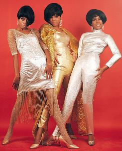 Standing tall: Diana Ross, left, Florence Ballard and Mary Wilson, aka The Supremes, were one of Motown's biggest acts.
