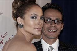 Jennifer Lopez and Marc Anthony arrive at the Latino Inaugural Gala at Union Station in Washington.