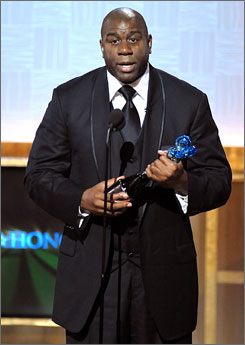 NBA great Magic Johnson took home the Corporate Citizen award at the second annual BET Honors.