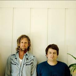 Switchfoot meets Nickel Creek as Jon Foreman, left, teams up with Sean Watkins for Fiction Family.