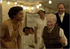 The Curious Case of Benjamin Button picked up a best-picture nomination, along with berths for Brad Pitt and supporting actress Taraji P. Henson and director David Fincher.