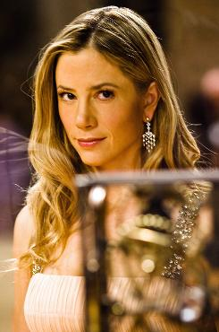 Archeologist in heels: Mira Sorvino is in hot pursuit of The Last Templar.