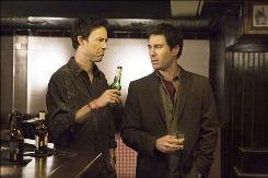 The friendship between copywriter Conner (Tom Cavanagh), left, and art director Mason (Eric McCormack) is threatened when Mason becomes Conner's boss.