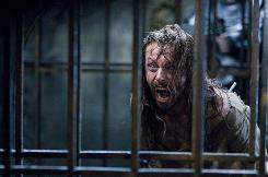 Lucian (Michael Sheen) is the leader of an enslaved race of werewolves in Underworld: Rise of the Lycans.