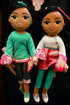 Coincidentally named? Marvelous Malia, left, and Sweet Sasha dolls. Ty says there's no connection to the Obama girls.