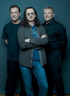 Drummer/lyricist Neil Peart, left, lead vocalist Geddy Lee and guitarist Alex Lifeson are Canadian progressive rockers Rush.