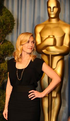 Kate Winslet, nominated for best actress in a leading role for her performance in The Reader, was among the stars at the Academy Awards Nominees Luncheon on Monday.