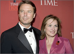Elizabeth Edwards, with husband John Edwards at a 2007 event, will write about overcoming adversity, but there's no word on whether or not she will mention her husband's infidelity in the book.