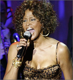 Whitney Houston was the star of the 2009 Grammy Salute to Industry Icons event, honoring Clive Davis in Beverly Hills on Sunday.