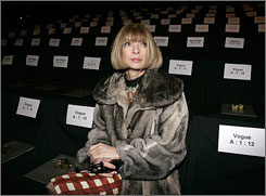 Vogue editor Anna Wintour will still be a fixture at Fashion Week no matter what happens. But expect to see fewer retail buyers and less swag.