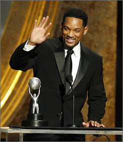 Will Smith won the award for Outstanding Actor at the NAACP Awards.