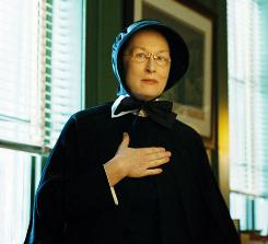 Meryl Streep is up for a best-actress Oscar for her performance as a nun in Doubt.