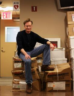 Conan O'Brien is leaving his 30 Rockefeller Center office in NYC for sunny climes and a larger TV studio in L.A..