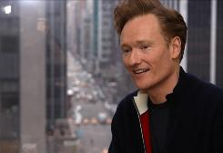 Conan O'Brien, photographed at his 30 Rockefeller Center office, is wrapping up his late-night show to head to Los Angeles, where he will replace Jay Leno as the host of The Tonight Show.
