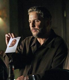 As seen on TV: CSI's William Petersen examines the evidence.