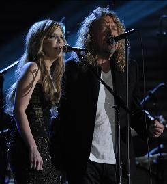 Raising Sand: Grammy performers Alison Krauss and Robert Plant's album, which won five trophies, sold 715% more copies than the week before the ceremony.