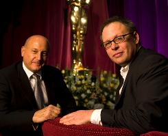 """Shake it up a little"": Laurence Mark, left, and Bill Condon have a bold plan for Sunday's Oscar telecast."