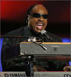 Stevie Wonder is expected to perform a new song tonight at the Library of Congress.