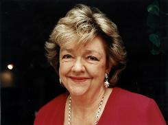 Maeve Binchy keeps in touch with her BlackBerry.