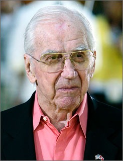 A spokesman for Ed McMahon, seen here at a movie premiere in July 2007, says he has been hospitalized for some weeks in Los Angeles.