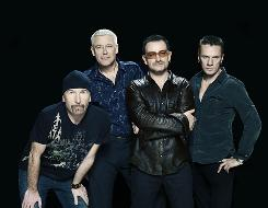 """Edge, left, Adam Clayton, Bono and Larry Mullen Jr. are U2. Edge says the group had hoped to finish the new album last summer, but """"the songs weren't finished with us."""""""